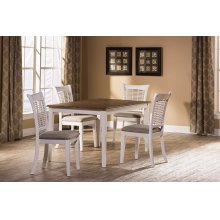 Bayberry 5 Piece Rectangle Dining Set - White
