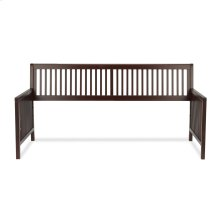 Mission Wood Daybed Frame with Open-Slatted Back and Side Panels, Espresso Finish, Twin