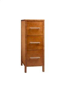 "Contemporary 15"" Freestanding Bathroom Storage Drawer Bank in Cinnamon"