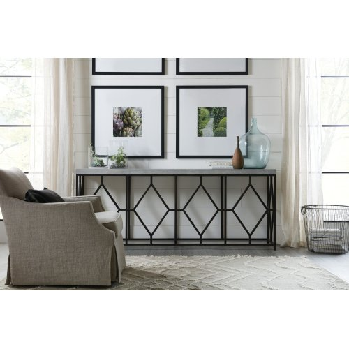 Living Room Ciao Bella Metal and Concrete Console Table