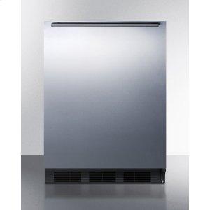 SummitBuilt-in Undercounter ADA Compliant Refrigerator-freezer for General Purpose Use, W/dual Evaporator Cooling, Ss Door, Horizontal Handle, and Black Cabinet