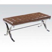 Brown Pu/chrome Bench