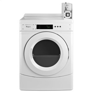 "Whirlpool27"" Commercial Gas Front-Load Dryer Featuring Factory-Installed Coin Drop with Coin Box White"