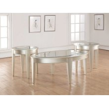 7520 Glam Oval Cocktail Table