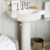 Retrospect 27-inch Pedestal Sink - Linen