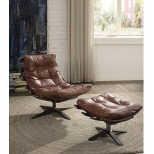 BROWN 2PC PK CHAIR & OTTOMAN