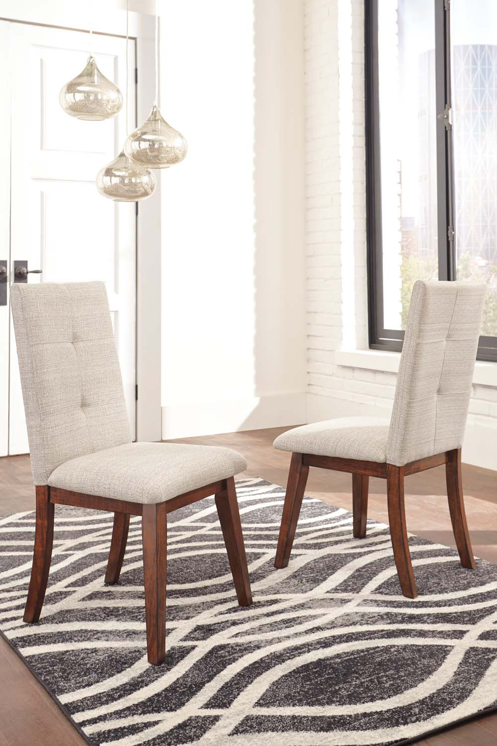 Centiar   Two Tone Brown Set Of 2 Dining Room Chairs