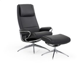 Stressless Paris High Back Star Base Chair and Ottoman