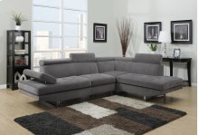 Metairie Gray Fabric Sectional
