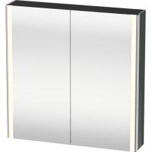 Mirror Cabinet, Dolomiti Gray High Gloss Lacquer