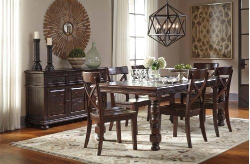 Gerlane - Dark Brown 7 Piece Dining Room Set