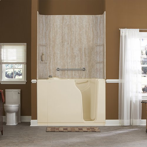 Gelcoat Premium Series 30x52-inch Walk-In Bathtub with Whirlpool Massage System  American Standard - Linen