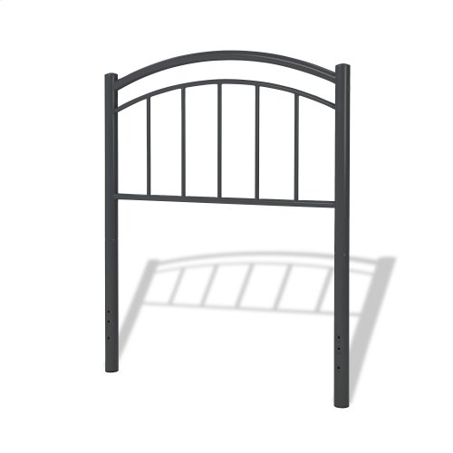 Rylan Kids Bed with Metal Duo Panels, Black Ink Finish, Twin