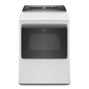 7.4 cu. ft. Smart Capable Top Load Electric Dryer - WHITE