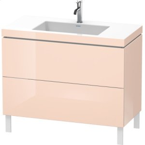 Furniture Washbasin C-bonded With Vanity Floorstanding, Apricot Pearl High Gloss Lacquer