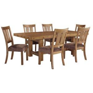 Ashley Furniture Tamilo - Gray/brown 7 Piece Dining Room Set