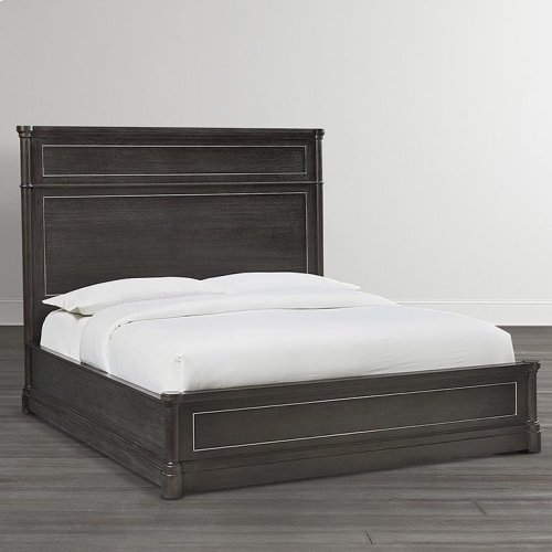 King/French Grey Martinique Panel Bed