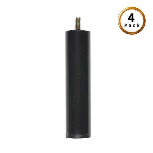 "9"" Metric Thread Black Cylinder Legs, 4-Pack"