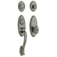 Distressed Antique Nickel Landon Two-Point Lock Handleset