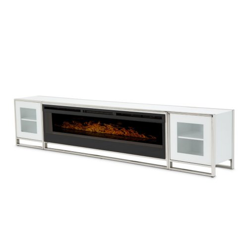 Fireplace TV Console W/firebox Insert 110v (4pc)