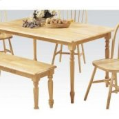 """Natural 36x60"""" Solid Top Table"""