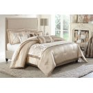 10 Pc Queen Comforter Set Sand Product Image