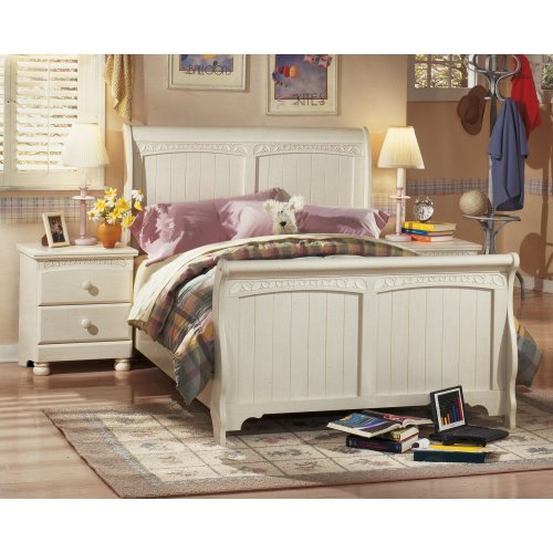 Vintage Casual Full Sleigh Bed