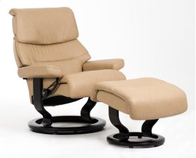 Stressless Capri Small Classic Base Chair and Ottoman