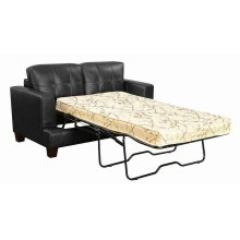 Samuel Transitional Black Loveseat Sleeper