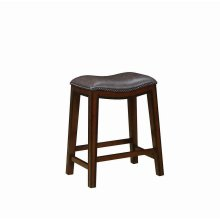 Traditional Two-tone Brown Counter-height Stool