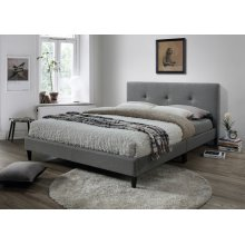 Jester Gray Tufted Upholstered Queen Bed