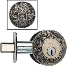 Ornate Auxiliary Deadbolt Kit in (Ornate Auxiliary Deadbolt Kit - Solid Brass)
