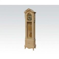 Ant. White Grandfather Clock Product Image