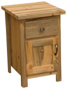 Blue Stain Enclosed Nightstand Product Image