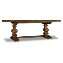 Dining Room Archivist Trestle Table w/2-18in Leaves