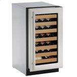 "U-Line 18"" Wine Refrigerator With Stainless Frame Finish (115 V/60 Hz Volts /60 Hz Hz)"