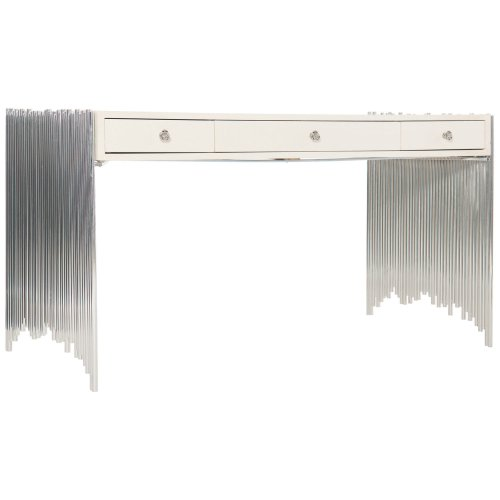 Calista Metal Desk in Silken Pearl (388)