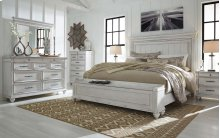 Kanwyn - Whitewash 3 Piece Bed Set (Cal King)