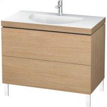 Furniture Washbasin C-bonded With Vanity Floorstanding, European Oak (decor)