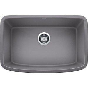 """Blanco Valea® 27"""" Single Bowl - Metallic Gray"""