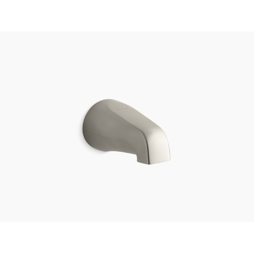 """Vibrant Brushed Nickel 4-7/8"""" Non-diverter Bath Spout With Slip-fit Connection"""