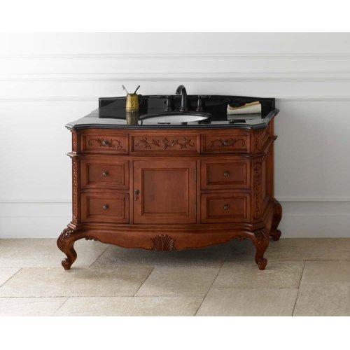 "Bordeaux 48"" Bathroom Vanity Cabinet Base in Colonial Cherry"