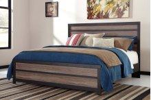 Harlinton - Warm Gray/Charcoal 3 Piece Bed Set (King)
