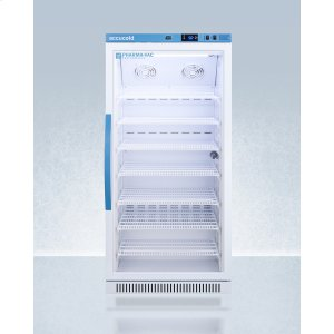 SummitPerformance Series Pharma-vac 8 CU.FT. Upright Glass Door All-refrigerator for Vaccine Storage
