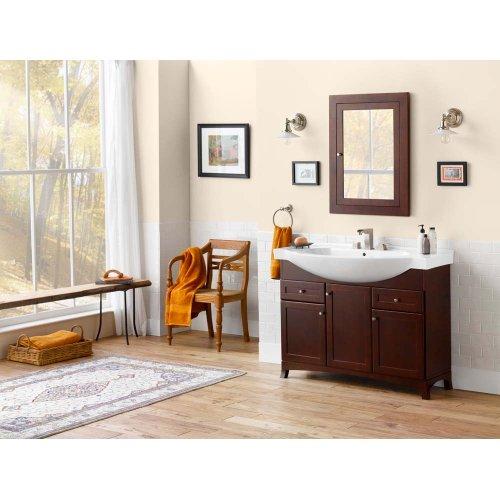 "Adara 47"" Space Saver Bathroom Vanity Cabinet Base in Dark Cherry - Wood Door"