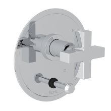 Polished Chrome Pirellone Pressure Balance Trim With Diverter with Cross Handle