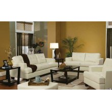Samuel Transitional White Two-piece Living Room Set