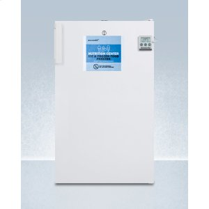 SummitCommercially Approved Nutrition Center Series All-freezer In White for Freestanding Use, With Front Lock and Digital Temperature Display