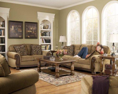 6850038  Sofa and Loveseat - Lynnwood Amber