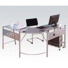 Silver Computer Desk